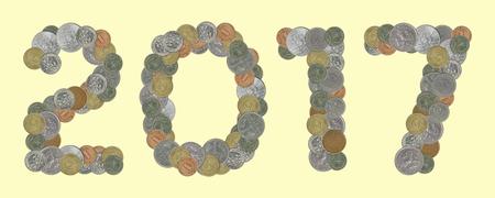 monedas antiguas: A�o 2017 con las monedas viejas