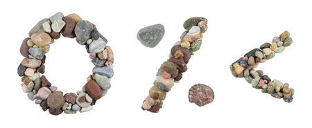 work less: number zero, and less sign percent sign with sea Stones