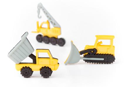 dumper: Dumper truck,bulldozer and crane Stock Photo