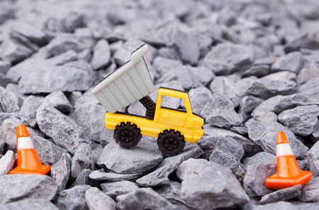 dumper: dumper track on pebbles Stock Photo