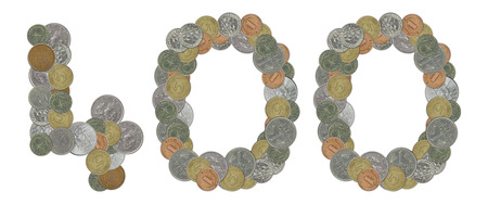 monete antiche: Numero 400 con le vecchie monete