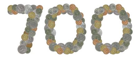 monete antiche: Numero 700 con le vecchie monete