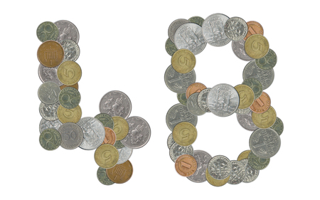 monete antiche: Numero 48 con le vecchie monete