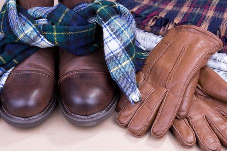 warm clothes: Warm clothes Stock Photo