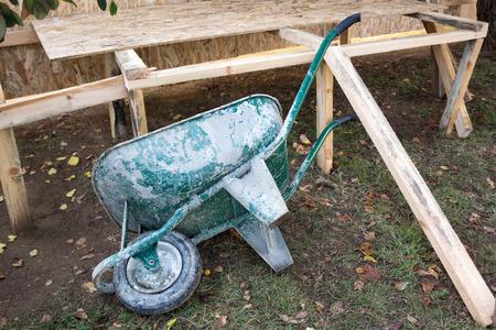overturn: Wheelbarrow Stock Photo