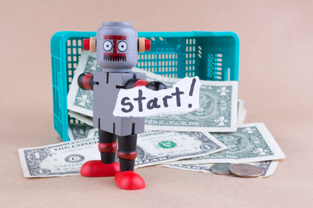 Start word with standing robot