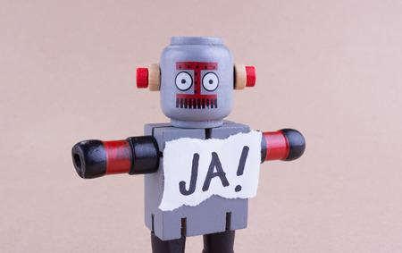 talking robot: JA! word with standing Robot