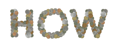 HOWE - Coins on white background