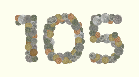 5.0: 105 - Coins on yellow background