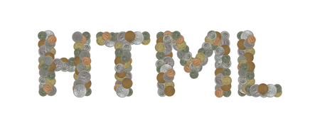 HTML - Coins on white background