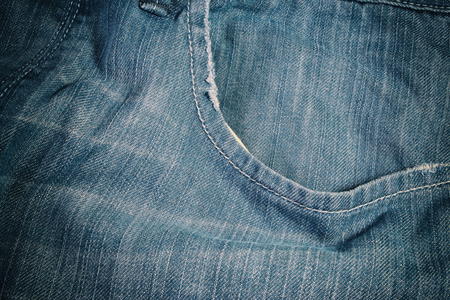 clothing store: Worn Jeans Pocket Stock Photo