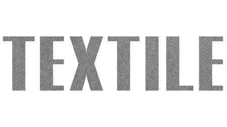TEXTILE word gray texture Stock Photo