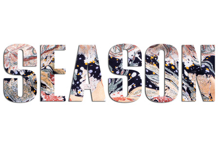 SEASON – with fabric texture 写真素材