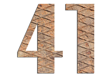 41 – with metal texture on white background