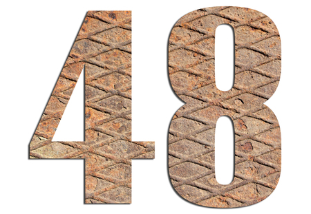 48 – with metal texture on white background