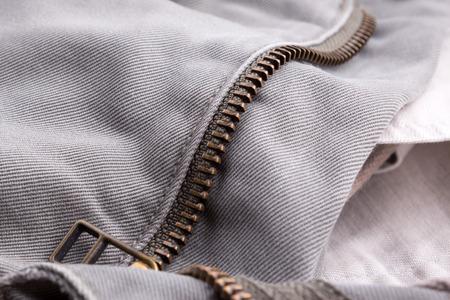 Canvas pants zipper