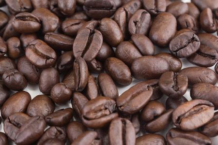 Stack of coffee beans Foto de archivo