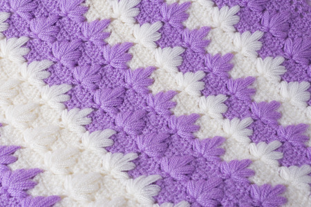 Hand knitted texture