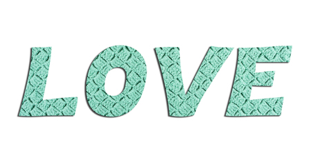 LOVE – with hand knitted texture