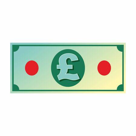 British Pound Banknote icon, vector.