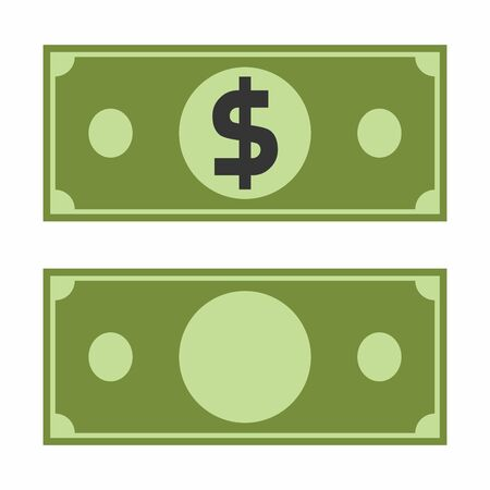 Dollar paper sign icon, vector.