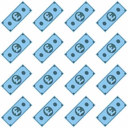 Stack of British money pattern, vector.