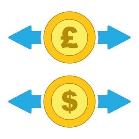 isolated money exchange icon vector. Иллюстрация