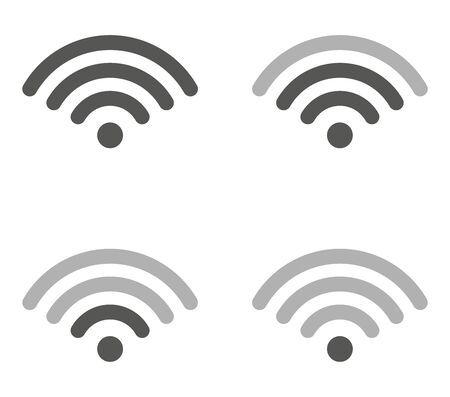 wifi icon with different network signals.vector.