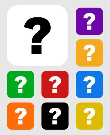isolated question mark icon vector.