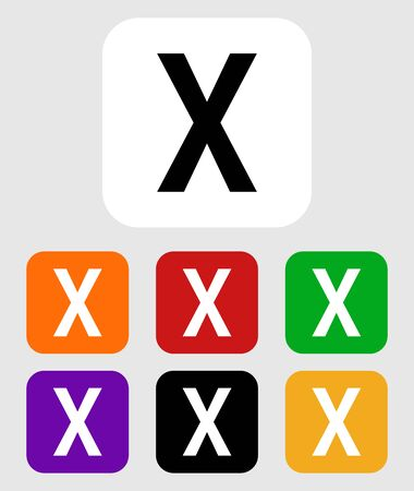isolated capital letter X icon on background, vector.