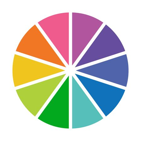 colorful info template pie charts vector.