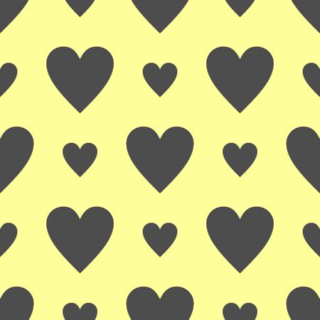 seamless pattern with heart icon vector.  イラスト・ベクター素材