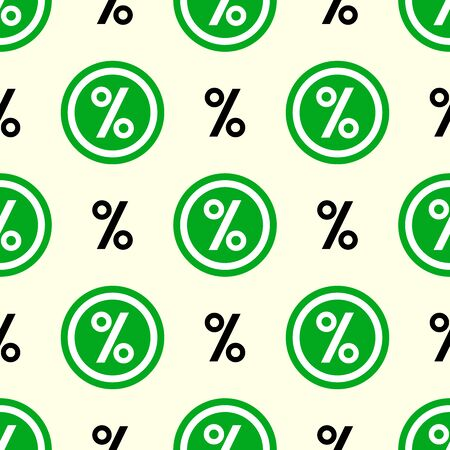 seamless pattern with percentage sign icon vector.