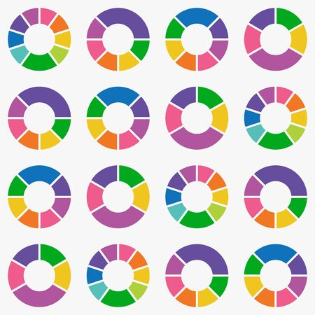 pie chart icon vector background.