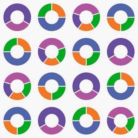 wykres kołowy tło wektor ikona. Ilustracje wektorowe