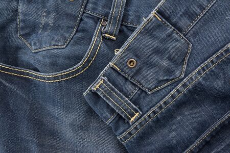 jeans with seam,denim detail. 写真素材