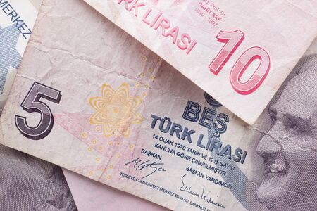 Turkish Lira Banknotes Turkish Paper Currency. 写真素材
