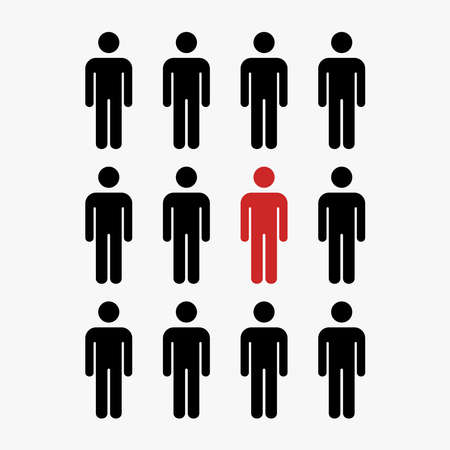 group of people illustration concept vector, man icon.