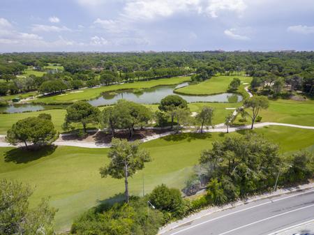Aerial photograph of golf cource in antalya belek Zdjęcie Seryjne