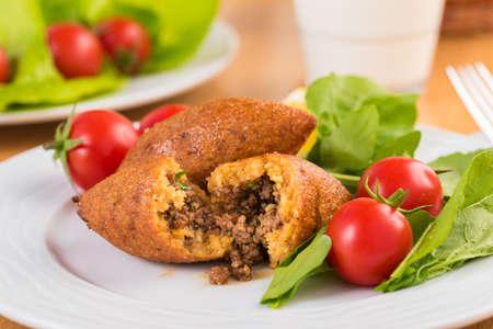Lebanese Kibbeh, Stuffed Meatballs Food, Falafel, icli Kofte.