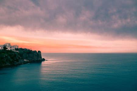 Mediterranean sea along the falez in Antalya Turkey Banco de Imagens