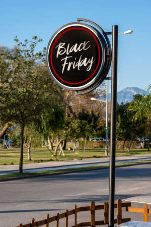 Store signboard written on Black Friday.