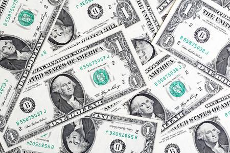 bankroll: One Dollars background Stock Photo