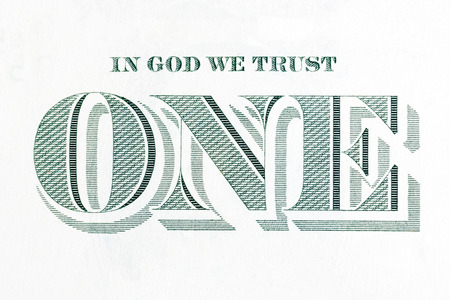 in god we trust: In God We Trust  - inscription from the dollar bill. Stock Photo
