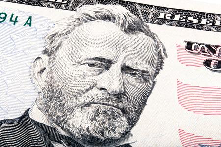 president???s: Il presidente Ulysses S. Grant da cinquanta dollari di legge. Photo Stacked.