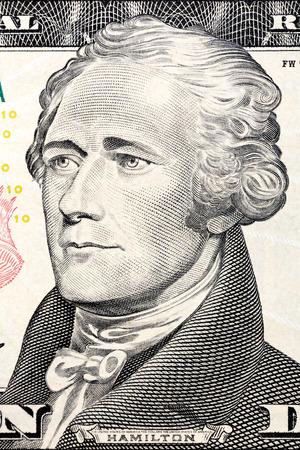alexander hamilton: Il presidente Usa Alexander Hamilton sul biglietto da dieci dollari.