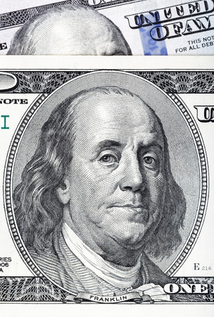 Dollars closeup. Highly detailed picture of U.S. America money. photo
