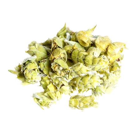loose skin: Lemon grass on white background.