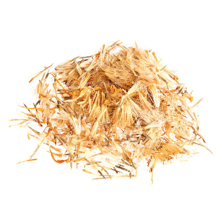 Pile of Mountain arnica, Arnicae flos isolated on white. photo