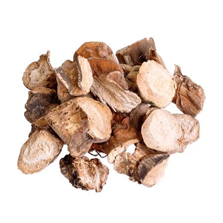 calamus: Acorus calamus . Traditional Chinese medicine, isolated on white.